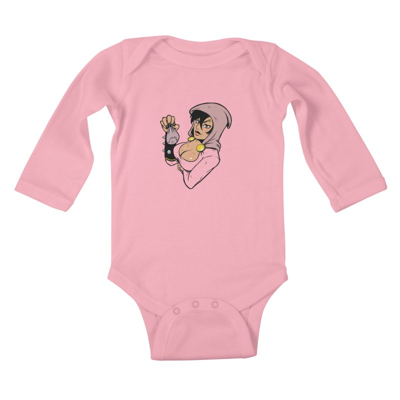Lady Thief Kids Baby Longsleeve Bodysuit by Holy Shop