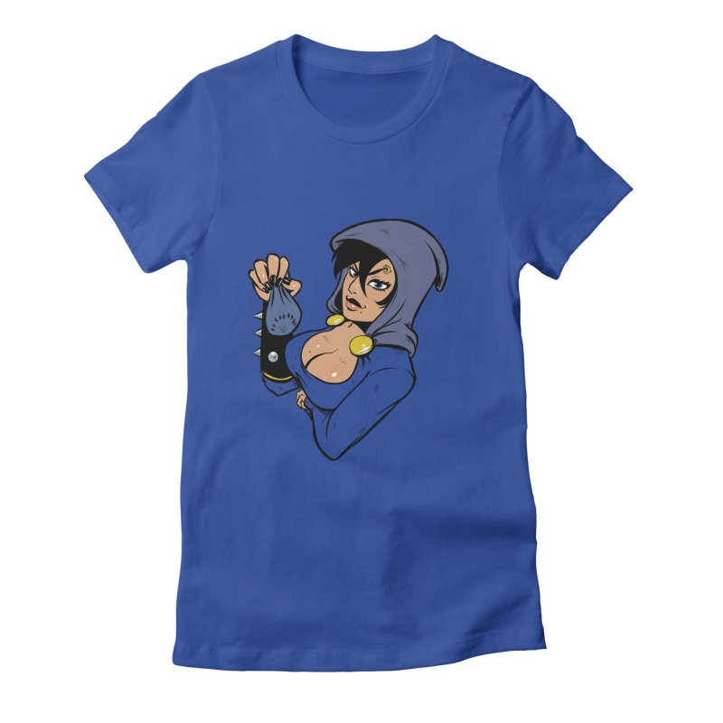 Lady Thief Women's Fitted T-Shirt by Holy Shop