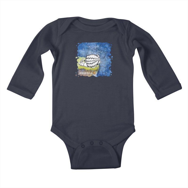 Starry Night from Karambola Kids Baby Longsleeve Bodysuit by holypangolin