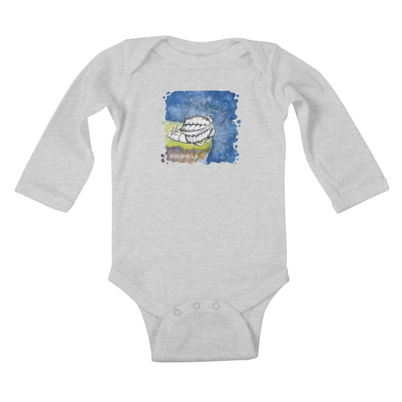 Starry Night from Karambola Kids Baby Longsleeve Bodysuit by holypangolin