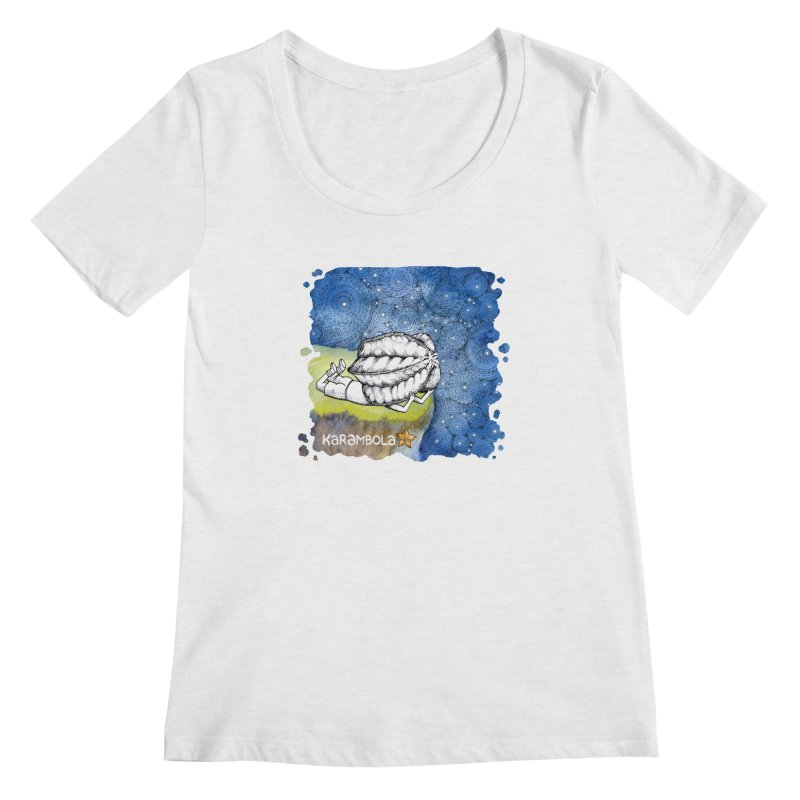 Starry Night from Karambola Women's Regular Scoop Neck by holypangolin