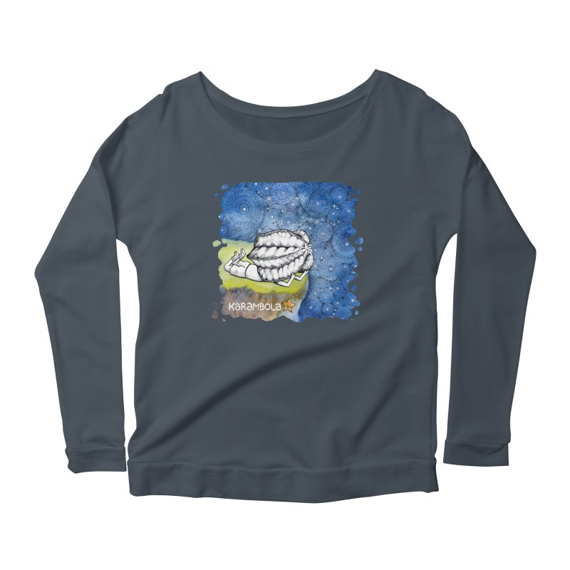 Starry Night from Karambola Women's Longsleeve Scoopneck  by holypangolin