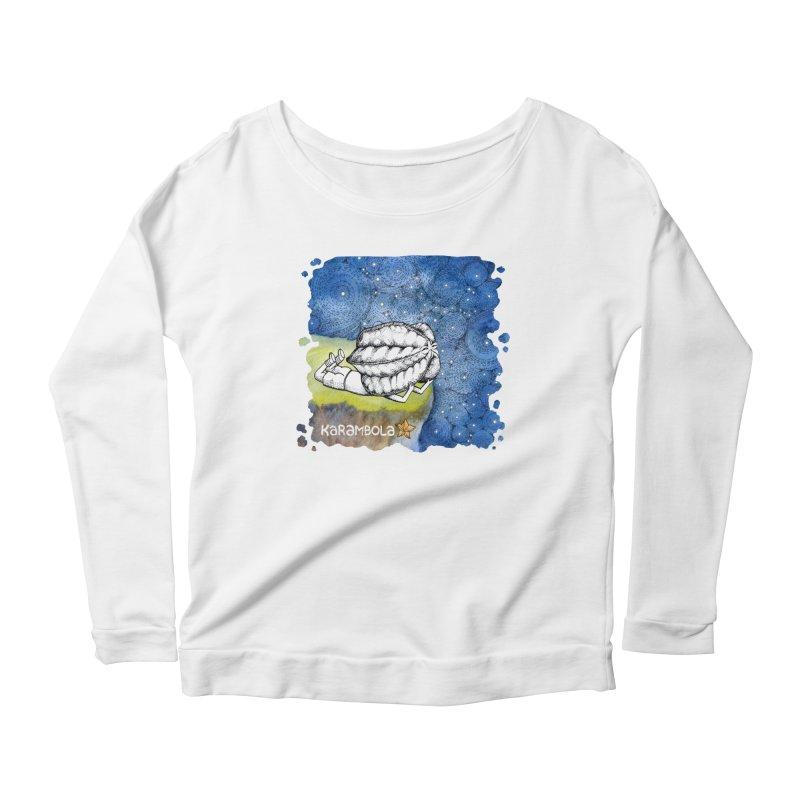 Starry Night from Karambola Women's Scoop Neck Longsleeve T-Shirt by holypangolin