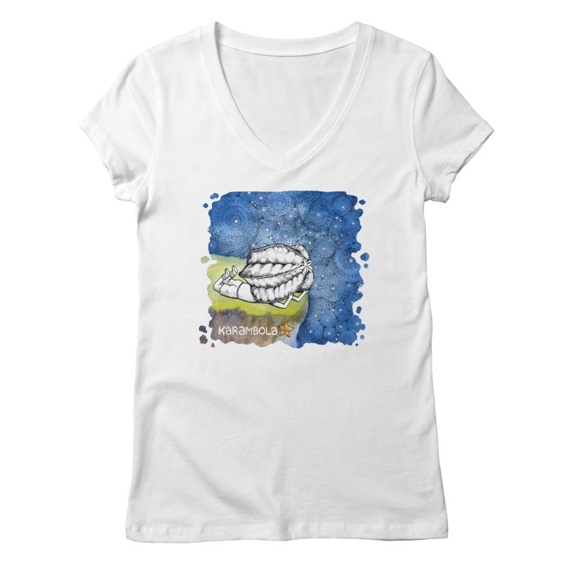 Starry Night from Karambola Women's Regular V-Neck by holypangolin