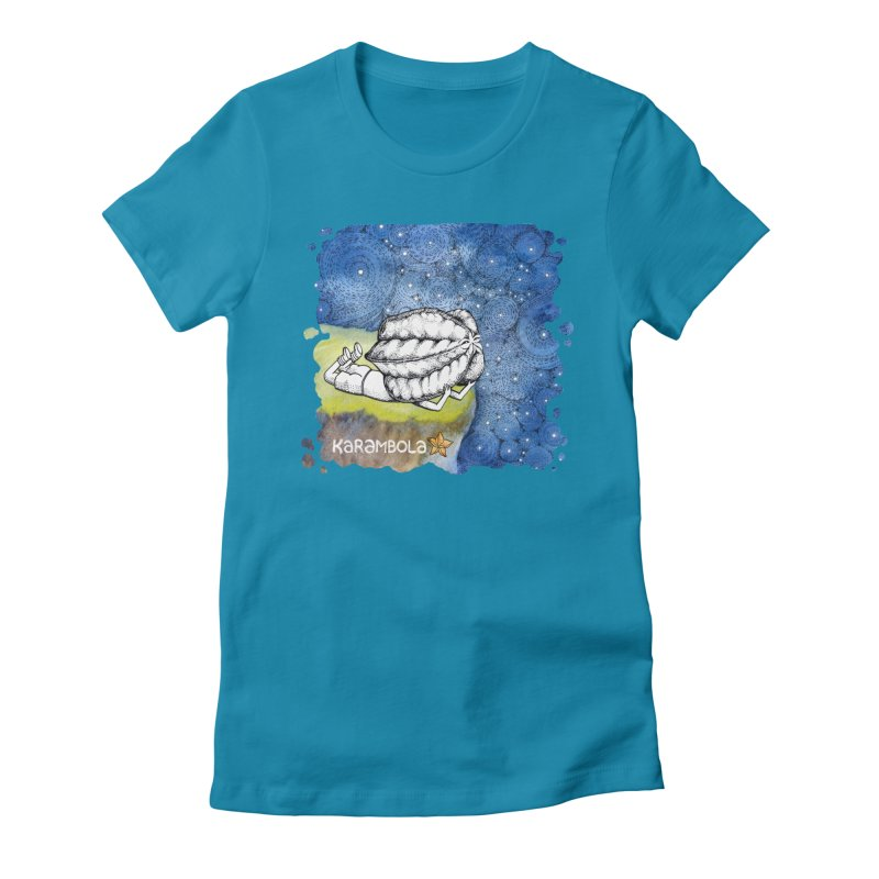 Starry Night from Karambola Women's Fitted T-Shirt by holypangolin