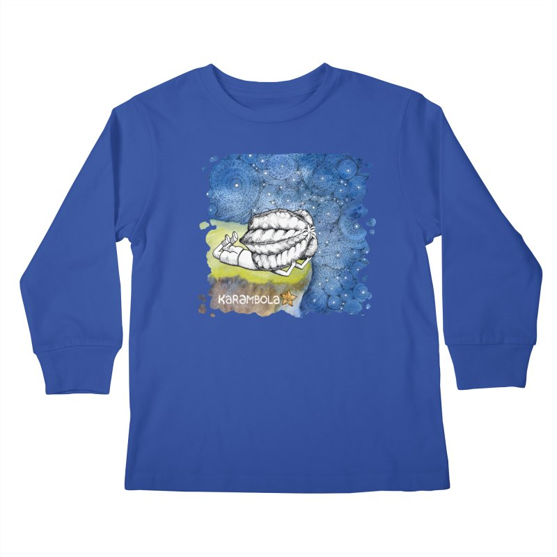 Starry Night from Karambola Kids Longsleeve T-Shirt by holypangolin