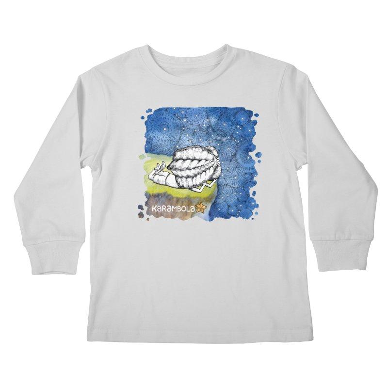 Starry Night from Karambola Kids Longsleeve T-Shirt by holypangolin