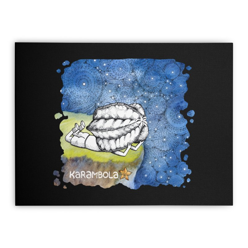 Starry Night from Karambola Home Stretched Canvas by holypangolin