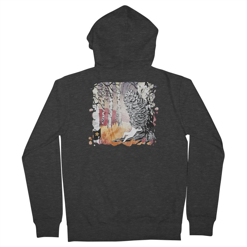 Autumn Forest from Karambola Men's French Terry Zip-Up Hoody by holypangolin