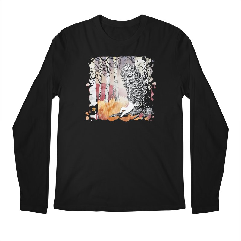 Autumn Forest from Karambola Men's Regular Longsleeve T-Shirt by holypangolin