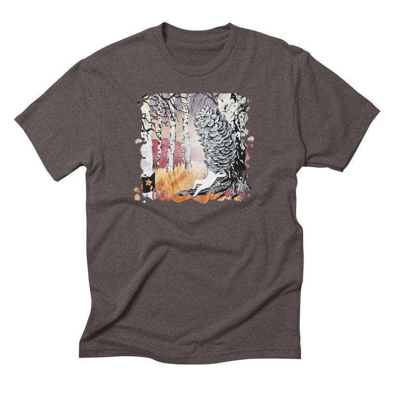 Autumn Forest from Karambola Men's Triblend T-shirt by holypangolin