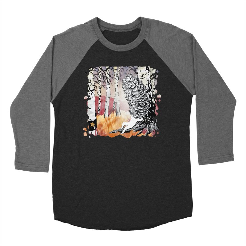 Autumn Forest from Karambola Men's Baseball Triblend Longsleeve T-Shirt by holypangolin