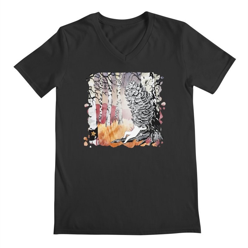 Autumn Forest from Karambola Men's V-Neck by holypangolin
