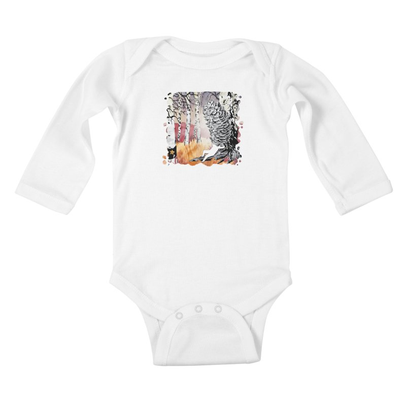 Autumn Forest from Karambola Kids Baby Longsleeve Bodysuit by holypangolin