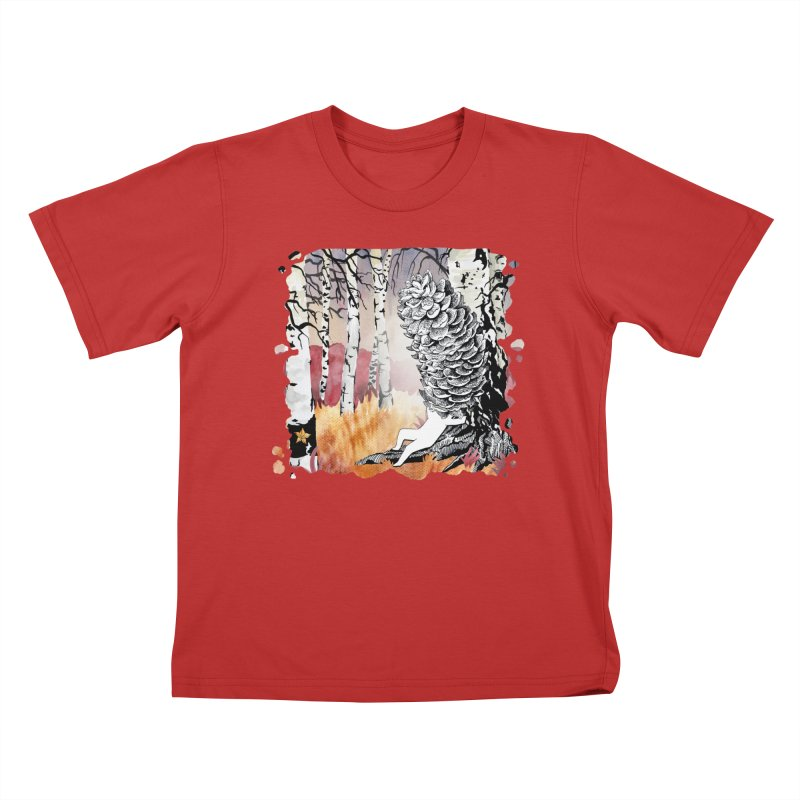 Autumn Forest from Karambola Kids T-Shirt by holypangolin