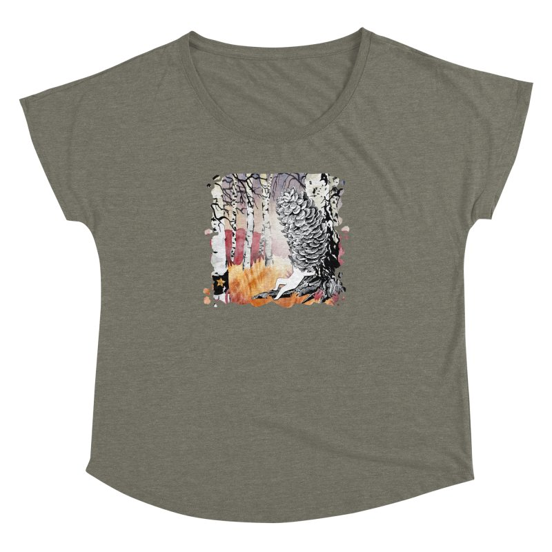 Autumn Forest from Karambola Women's Dolman Scoop Neck by holypangolin