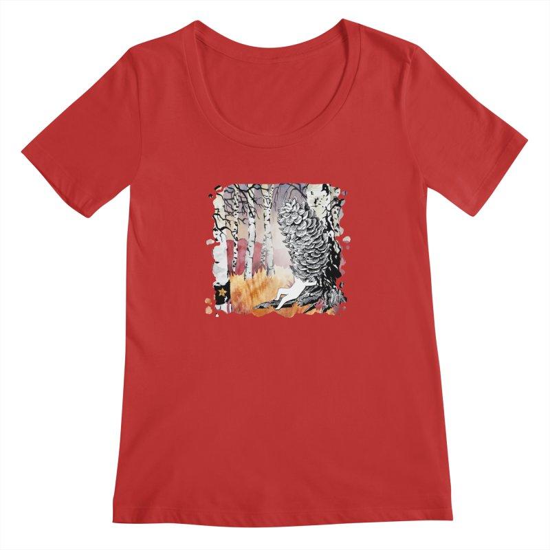 Autumn Forest from Karambola Women's Regular Scoop Neck by holypangolin
