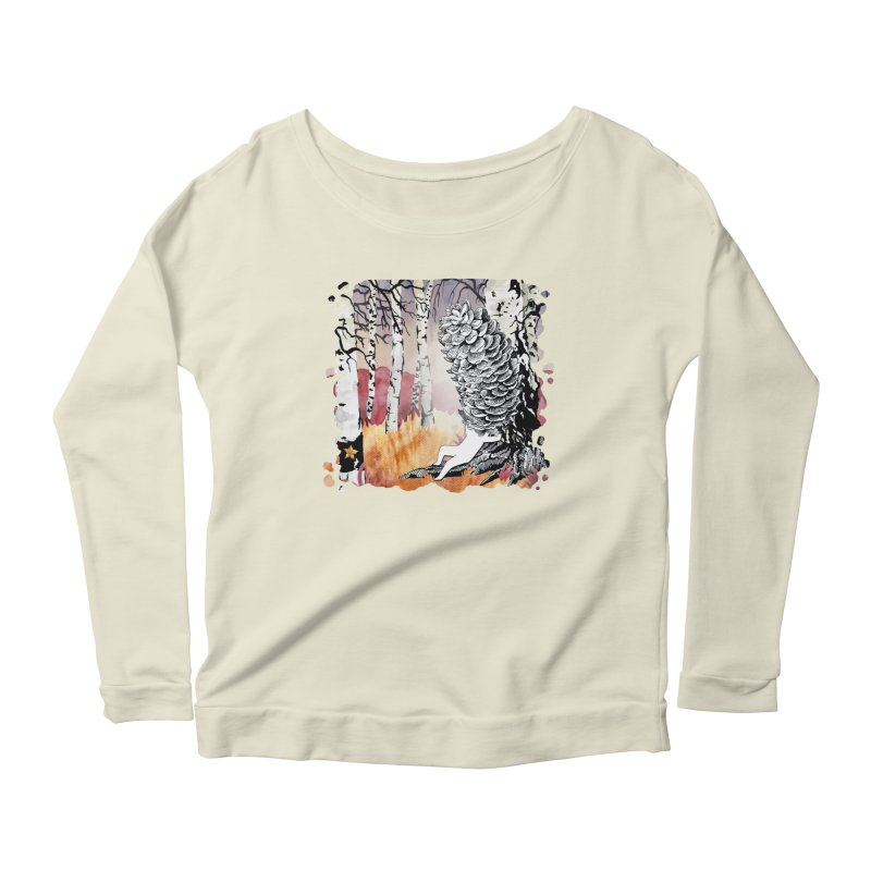 Autumn Forest from Karambola Women's Longsleeve Scoopneck  by holypangolin