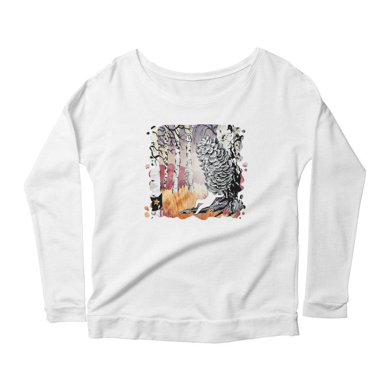 Autumn Forest from Karambola Women's Scoop Neck Longsleeve T-Shirt by holypangolin