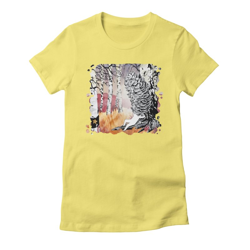 Autumn Forest from Karambola Women's Fitted T-Shirt by holypangolin