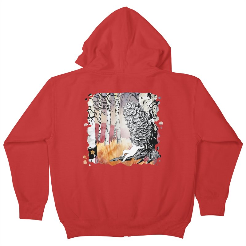 Autumn Forest from Karambola Kids Zip-Up Hoody by holypangolin