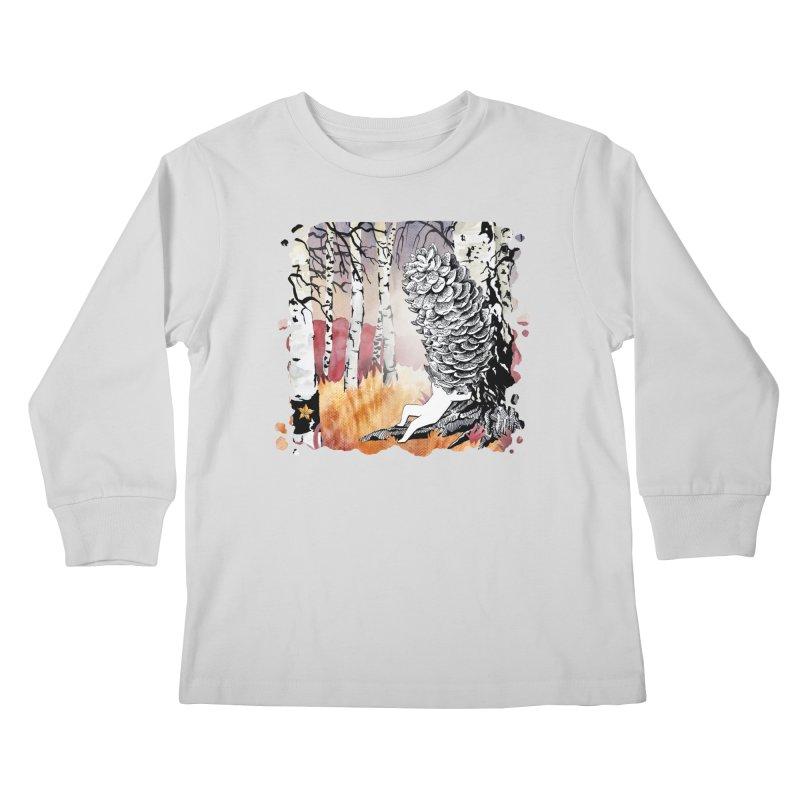 Autumn Forest from Karambola Kids Longsleeve T-Shirt by holypangolin