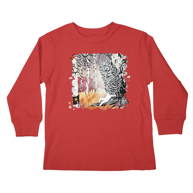 Autumn Forest from Karambola Kids Longsleeve T-Shirt by holypangolin