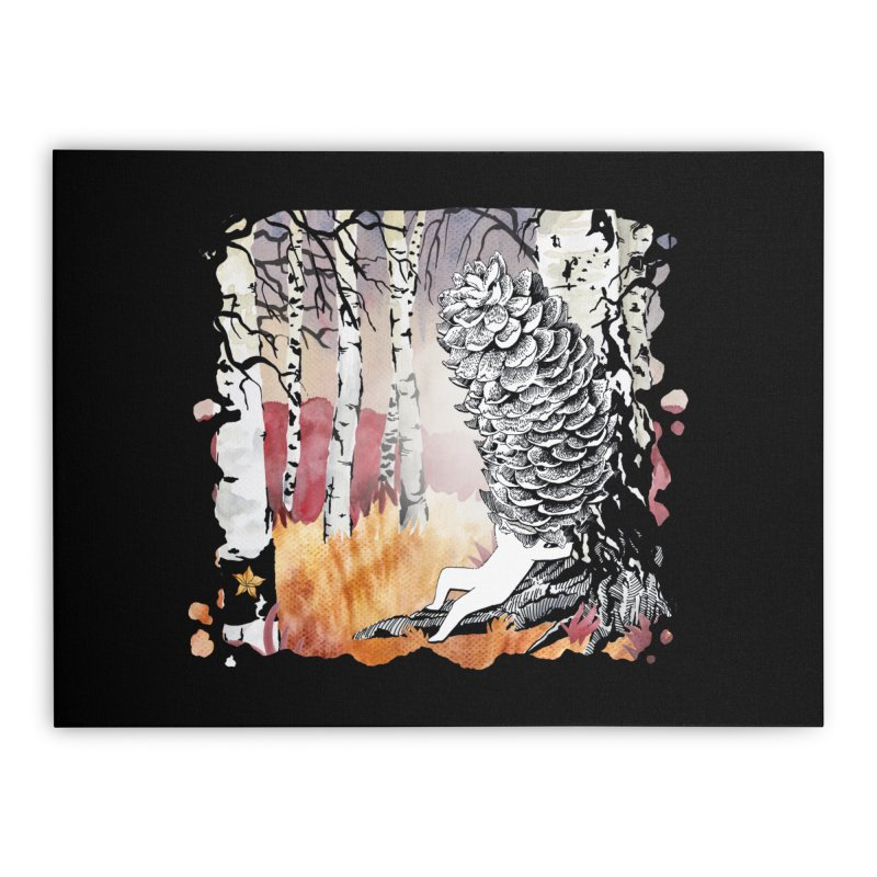 Autumn Forest from Karambola Home Stretched Canvas by holypangolin