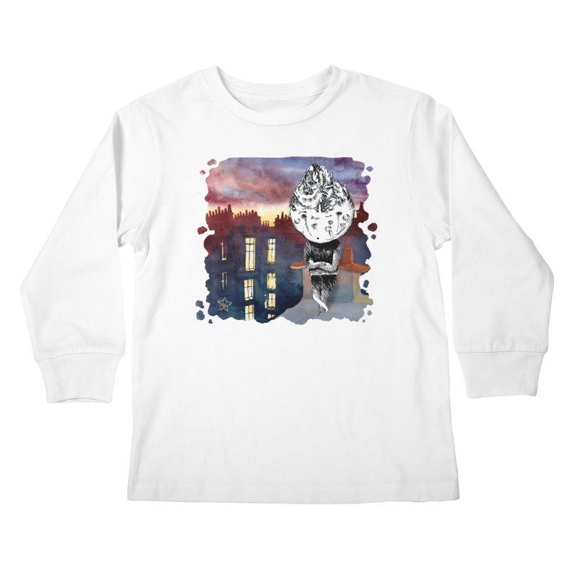 Grumpy Celery from Karambola - no title Kids Longsleeve T-Shirt by holypangolin