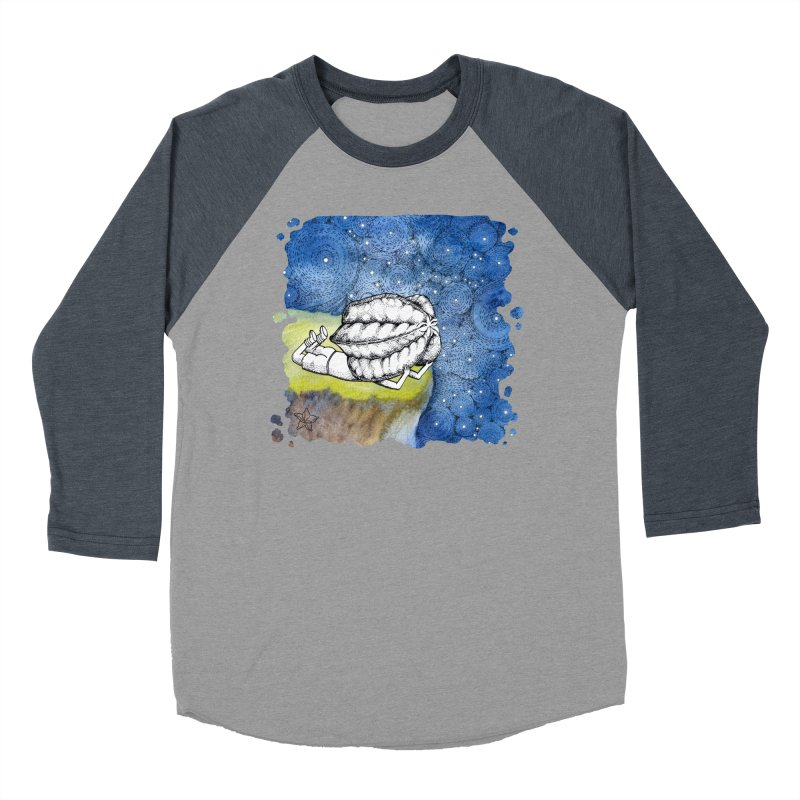 Starry Night from Karambola - no title Men's Baseball Triblend Longsleeve T-Shirt by holypangolin