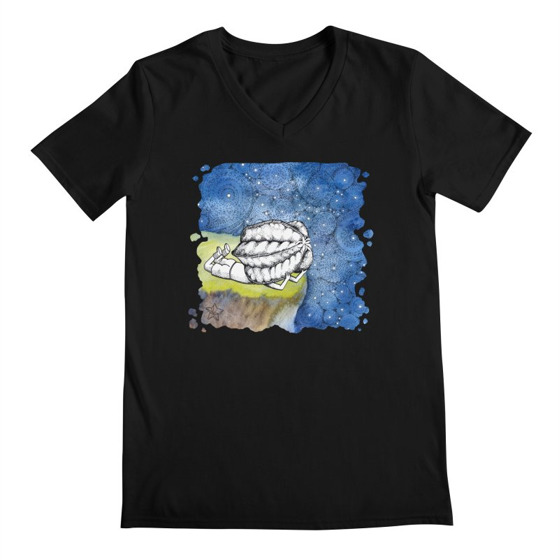 Starry Night from Karambola - no title Men's Regular V-Neck by holypangolin