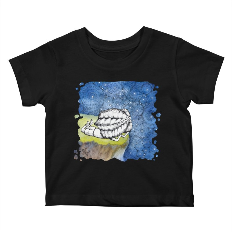 Starry Night from Karambola - no title Kids Baby T-Shirt by holypangolin