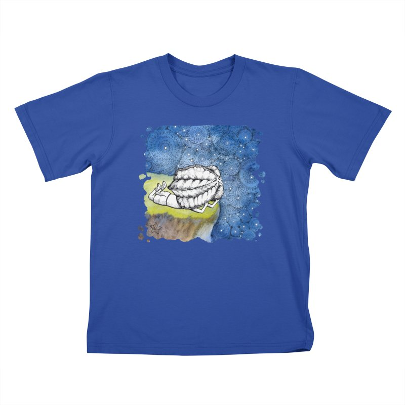 Starry Night from Karambola - no title Kids T-shirt by holypangolin
