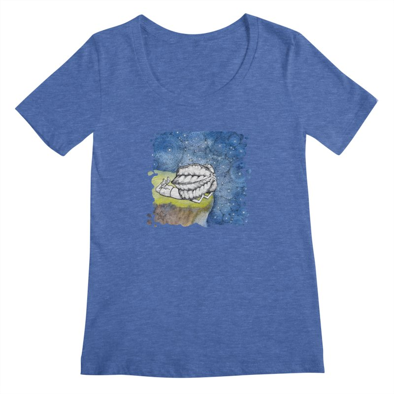 Starry Night from Karambola - no title Women's Scoopneck by holypangolin