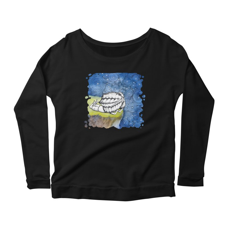 Starry Night from Karambola - no title Women's Longsleeve Scoopneck  by holypangolin