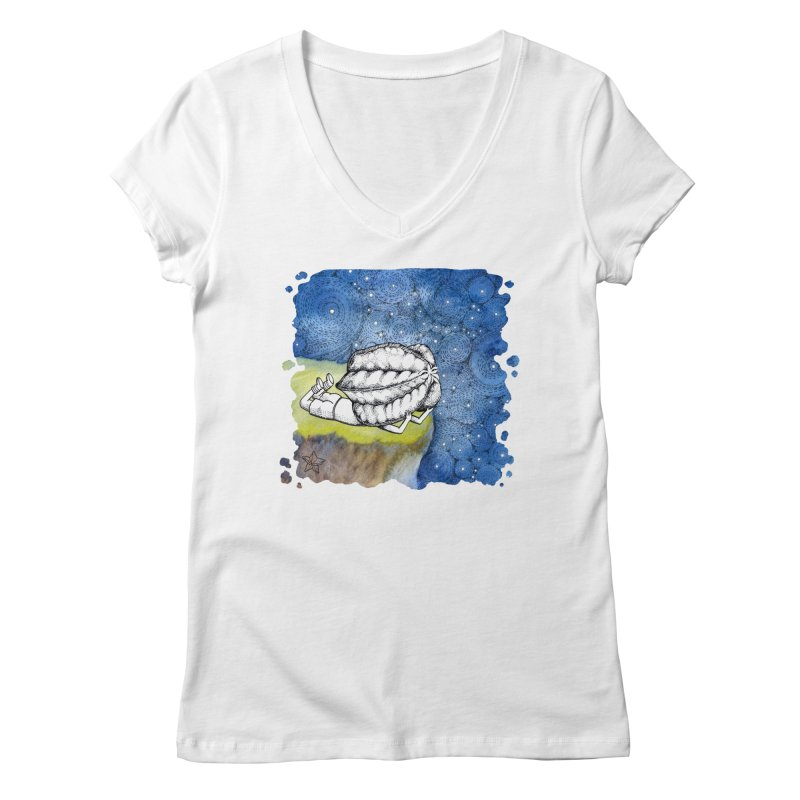 Starry Night from Karambola - no title Women's Regular V-Neck by holypangolin