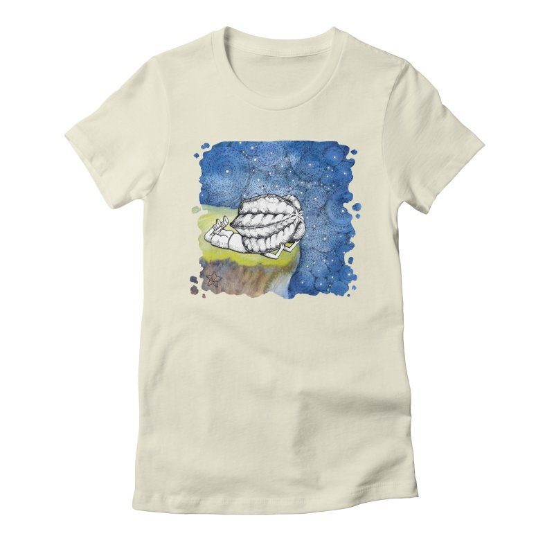 Starry Night from Karambola - no title Women's Fitted T-Shirt by holypangolin
