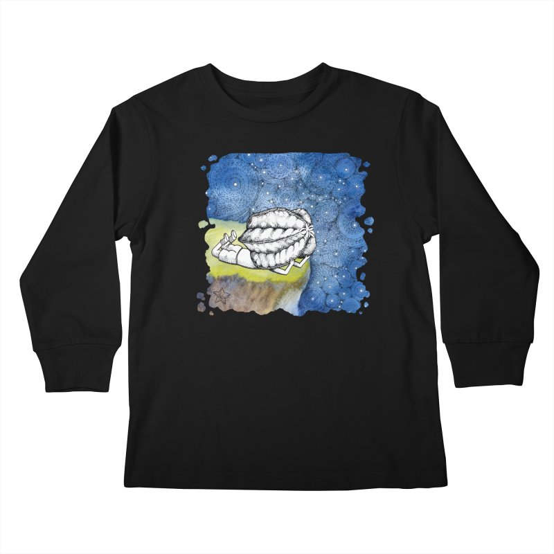 Starry Night from Karambola - no title Kids Longsleeve T-Shirt by holypangolin