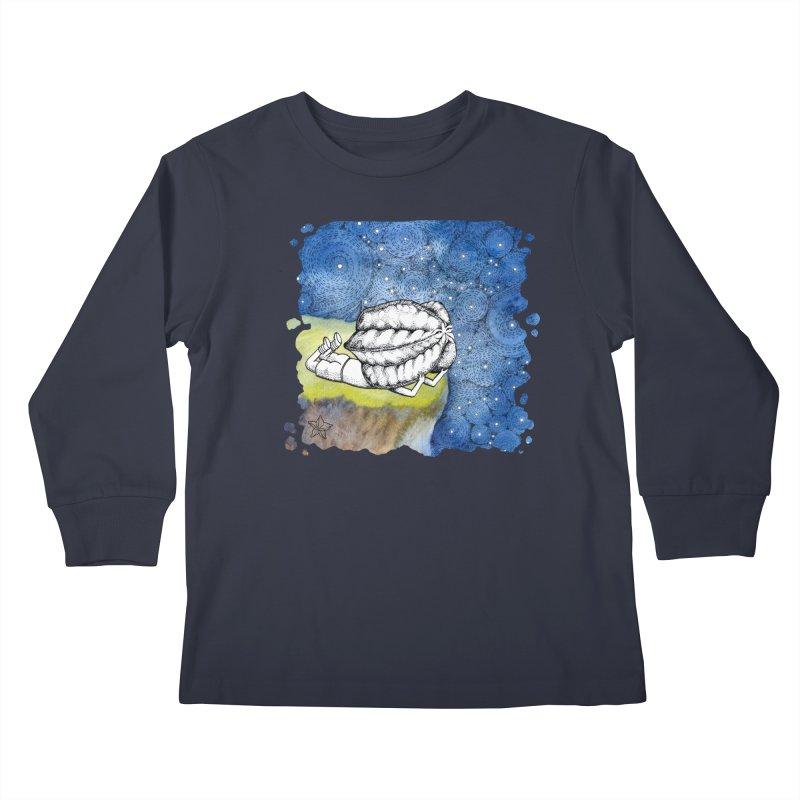 Starry Night from Karambola - no title Kids Longsleeve T-Shirt by holypangolin