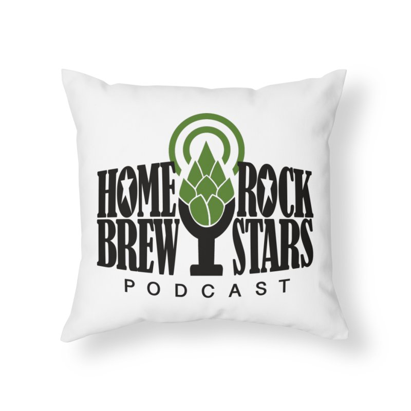 Official Logo Home Throw Pillow by HomeBrew RockStars Merch Shop