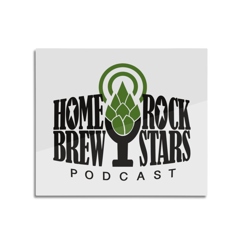 Official Logo Home Mounted Aluminum Print by HomeBrew RockStars Merch Shop