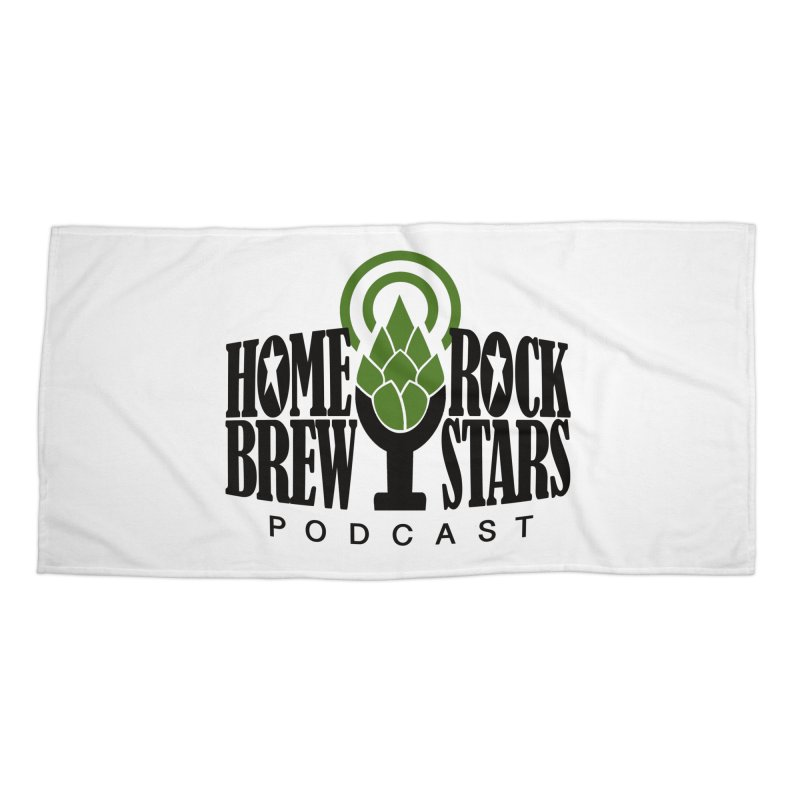 Official Logo Accessories Beach Towel by HomeBrew RockStars Merch Shop