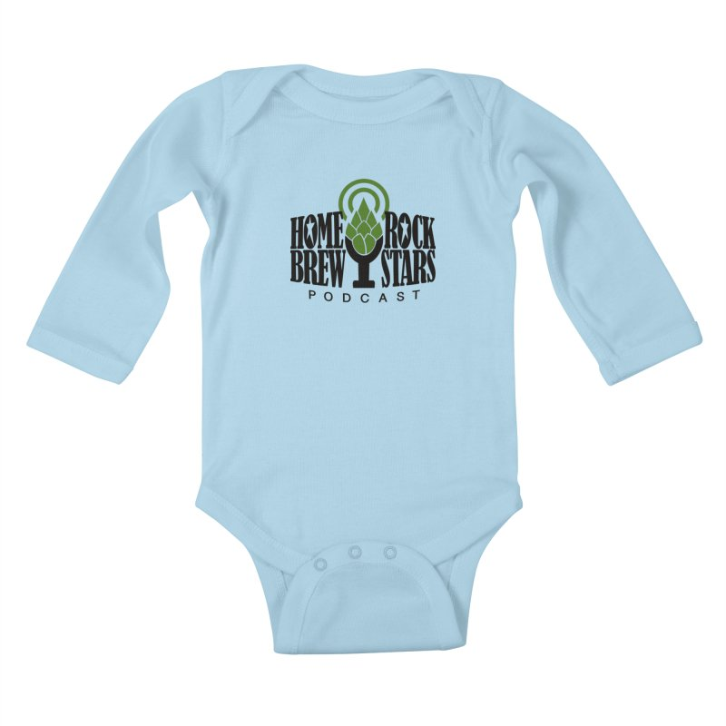 Official Logo Kids Baby Longsleeve Bodysuit by HomeBrew RockStars Merch Shop