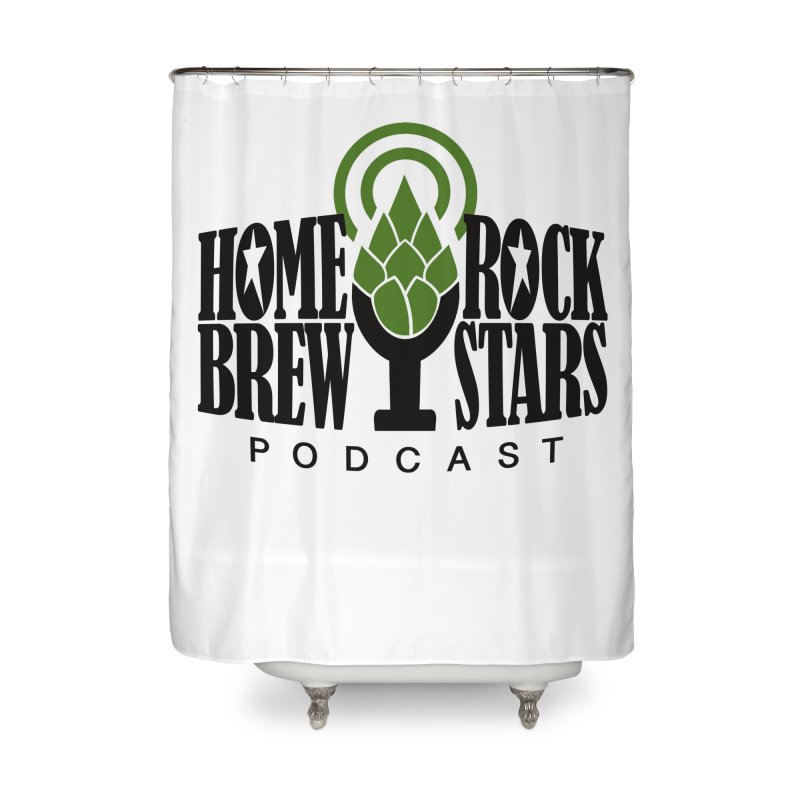 Official Logo Home Shower Curtain by HomeBrew RockStars Merch Shop