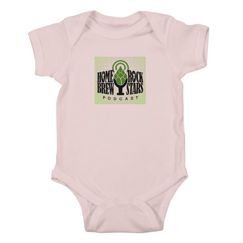 Logo Dots Kids Baby Bodysuit by HomeBrew RockStars Merch Shop