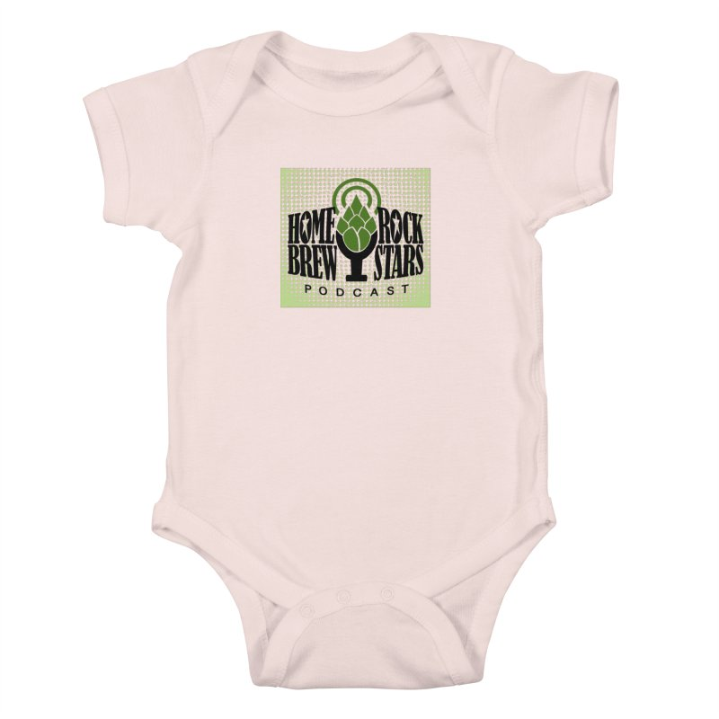 Logo Dots Kids Baby Bodysuit by HomeBrew RockStars Merch Shop