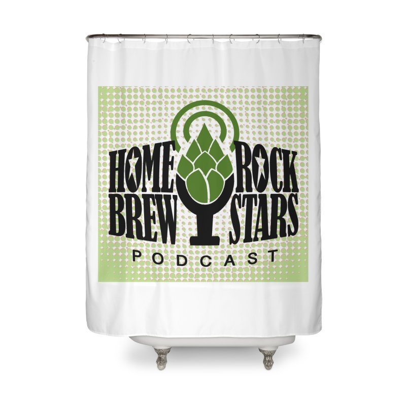 Logo Dots Home Shower Curtain by HomeBrew RockStars Merch Shop