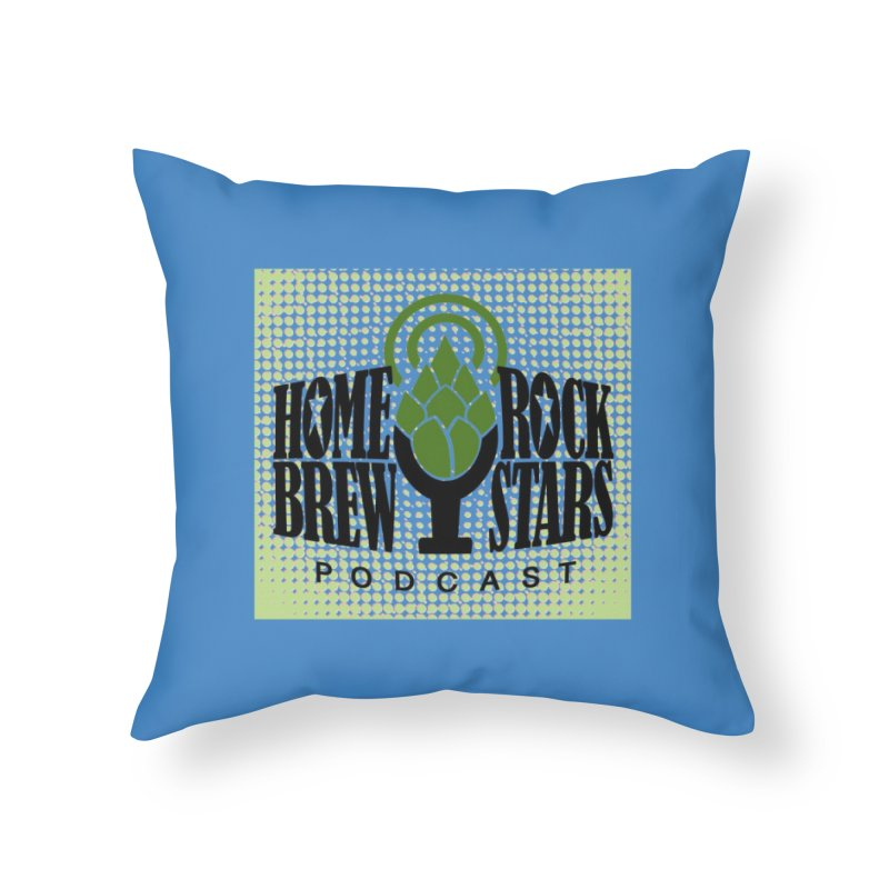 Logo Dots Home Throw Pillow by HomeBrew RockStars Merch Shop