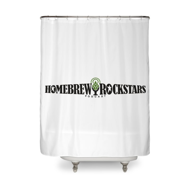 Official Logo Horizontal Home Shower Curtain by HomeBrew RockStars Merch Shop