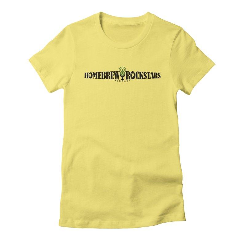 Official Logo Horizontal Women's Fitted T-Shirt by HomeBrew RockStars Merch Shop